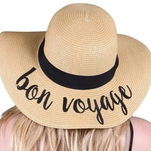 C.C Embroidered Sun Hat - Bon Voyage One Size